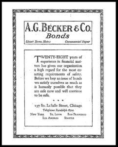 AI#2501B 19210630 Bonds