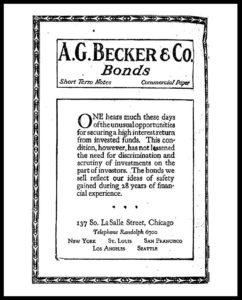 AI#2501D 19210721 Bonds