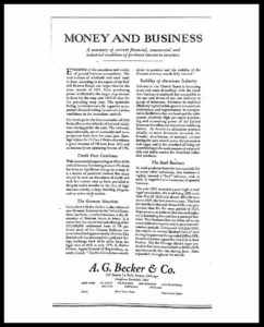 AI#2513 19260810 Money and Business