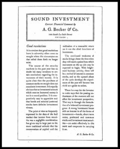 AI#2525 19301010 Sound Investment