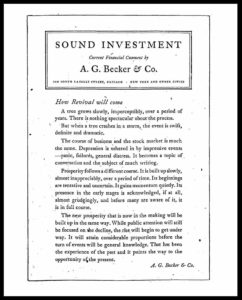 AI#2526 19301210 Sound Investment