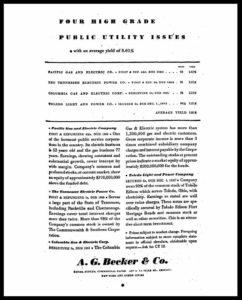 AI#2527 19310122 Utility Stocks