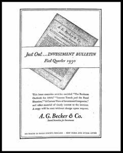 AI#2528 19300108 Investment Bulletin