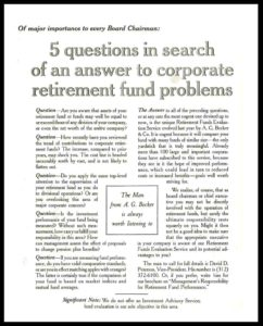 AI#2549 Man-Corporate Retirement Funds